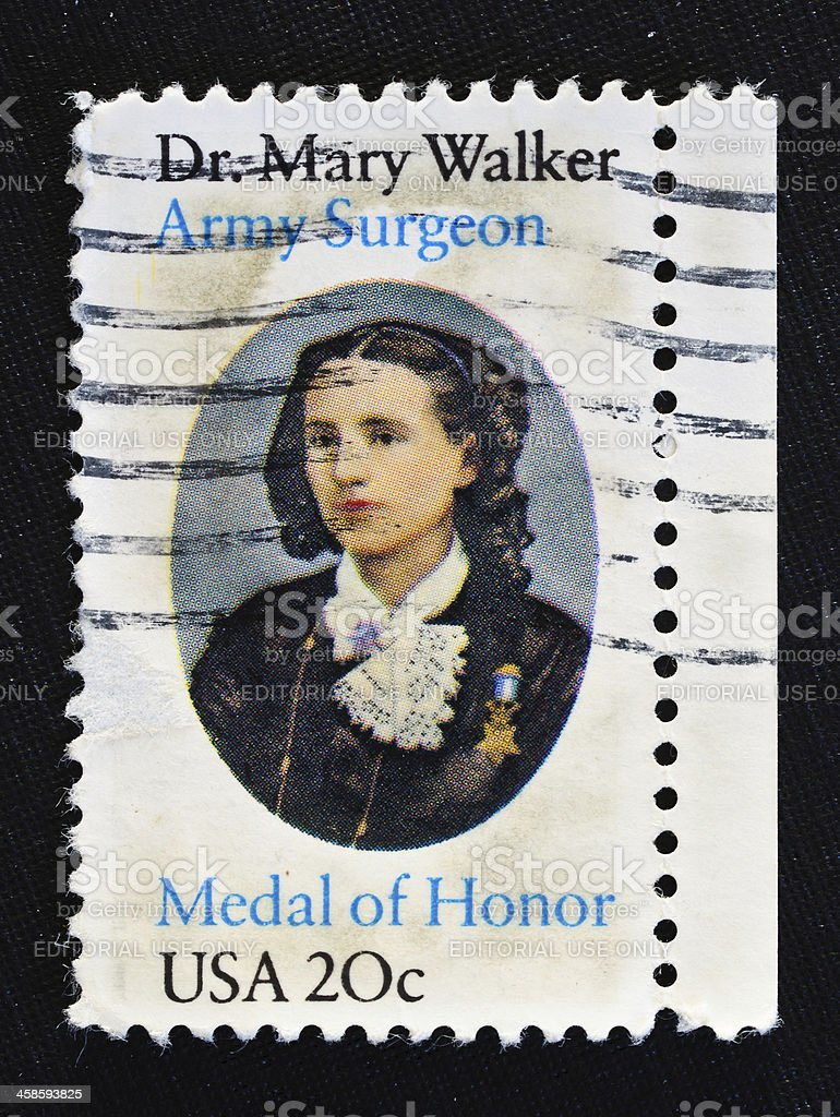 Dr. Mary Walker Stamp stock photo