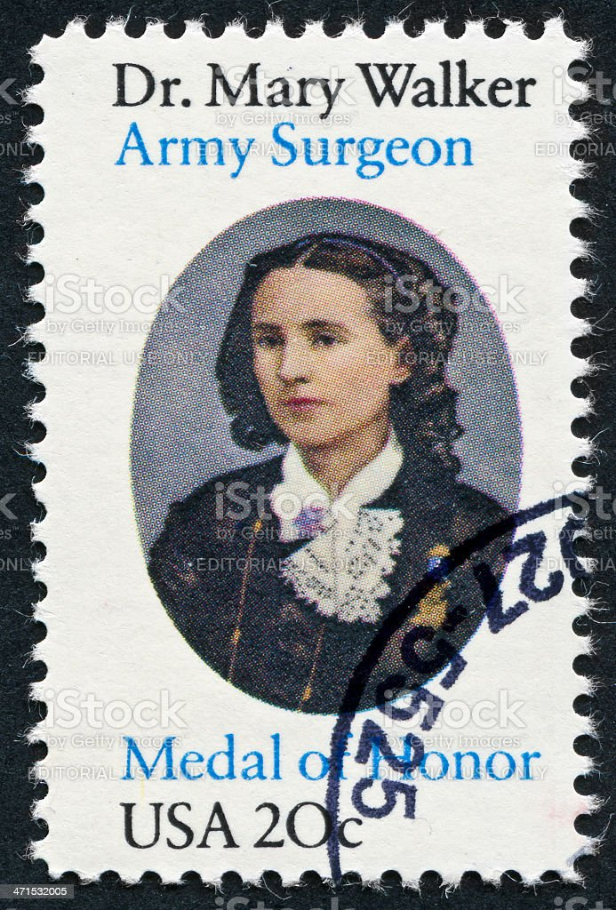 Dr. Mary Walker Stamp royalty-free stock photo
