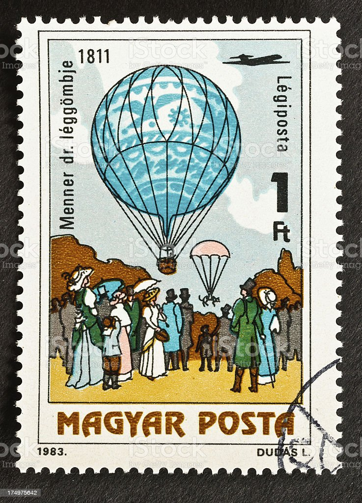 Dr. Menner's Balloon Stamp royalty-free stock photo