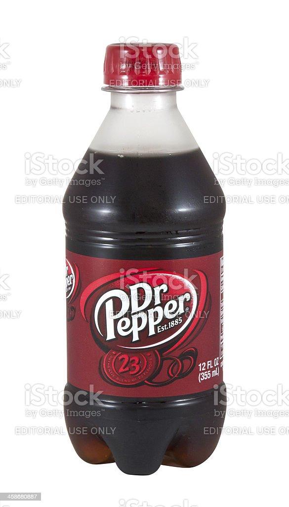 Dr. Pepper Bottle royalty-free stock photo