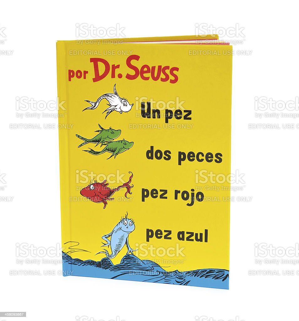 Dr. Seuss book in Spanish stock photo