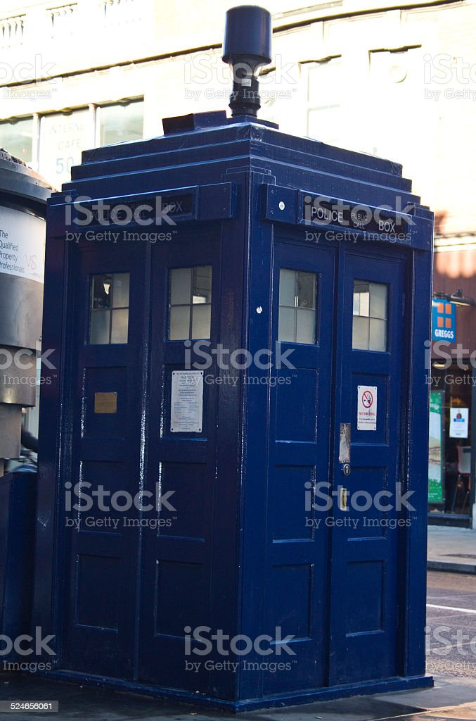 Dr Who Phonebox London stock photo