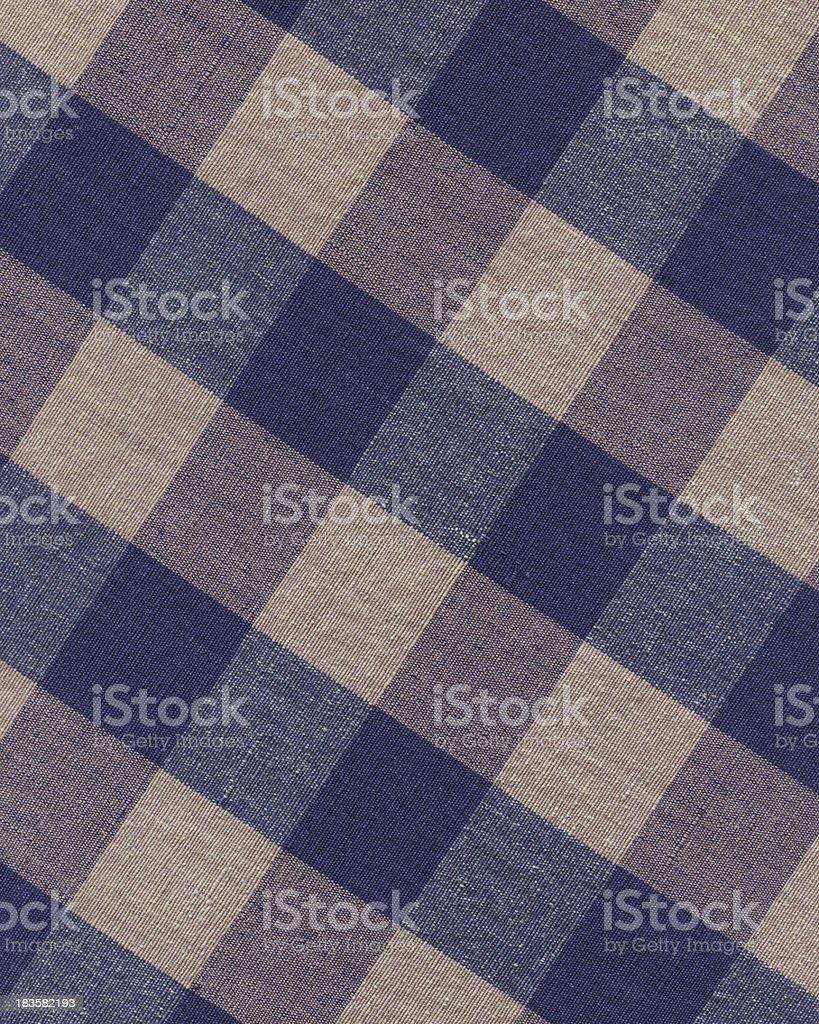 drab blue plaid cotton royalty-free stock photo