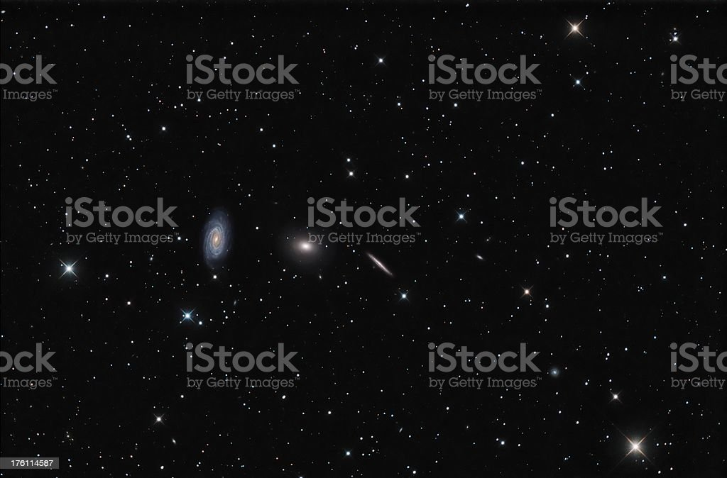 Draco Galaxies stock photo