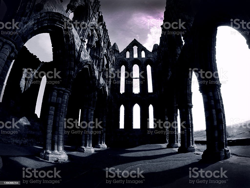 Dracula Abbey Whitby UK royalty-free stock photo