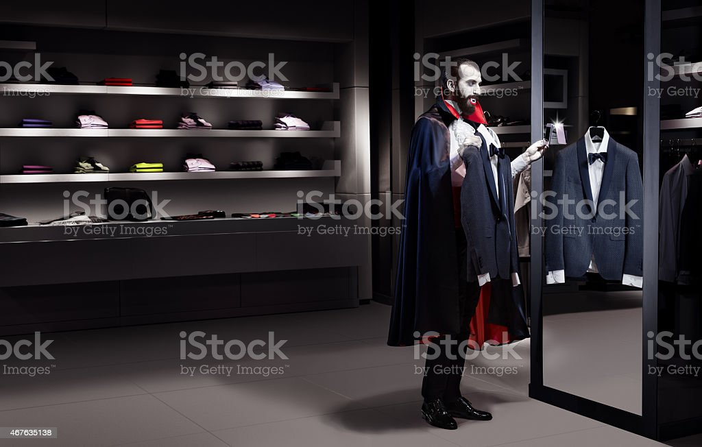 Dracula In Store stock photo