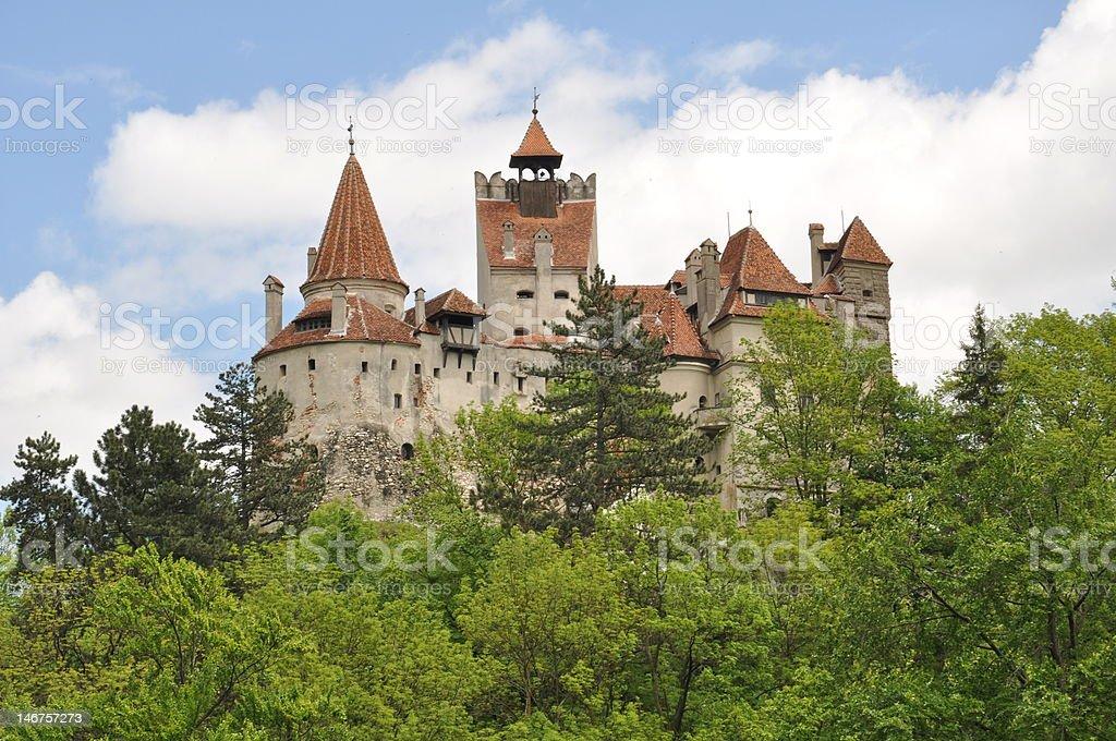 Dracula's Bran Castle in spring season stock photo
