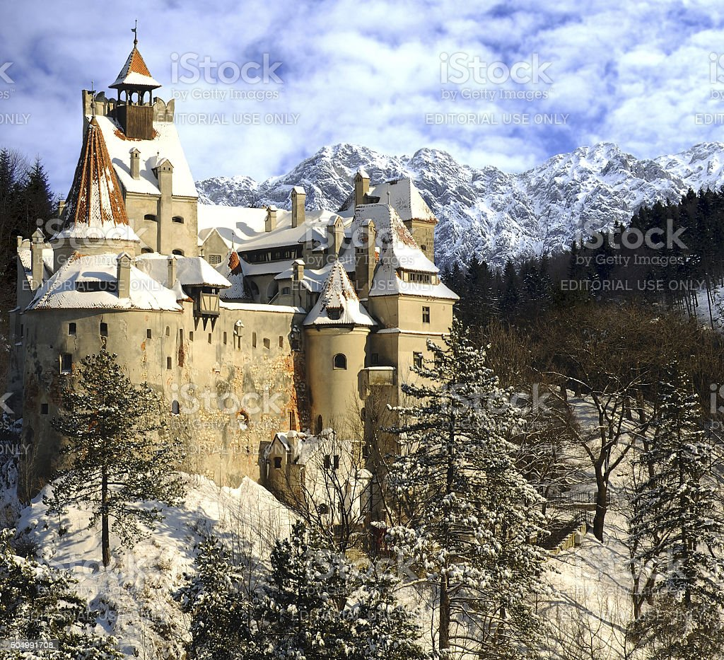 Dracula's Bran Castle stock photo