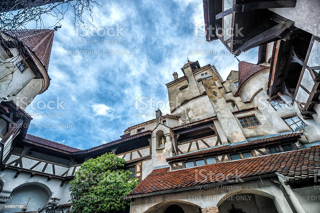 Dracula's Castle in Bran, Romania stock photo