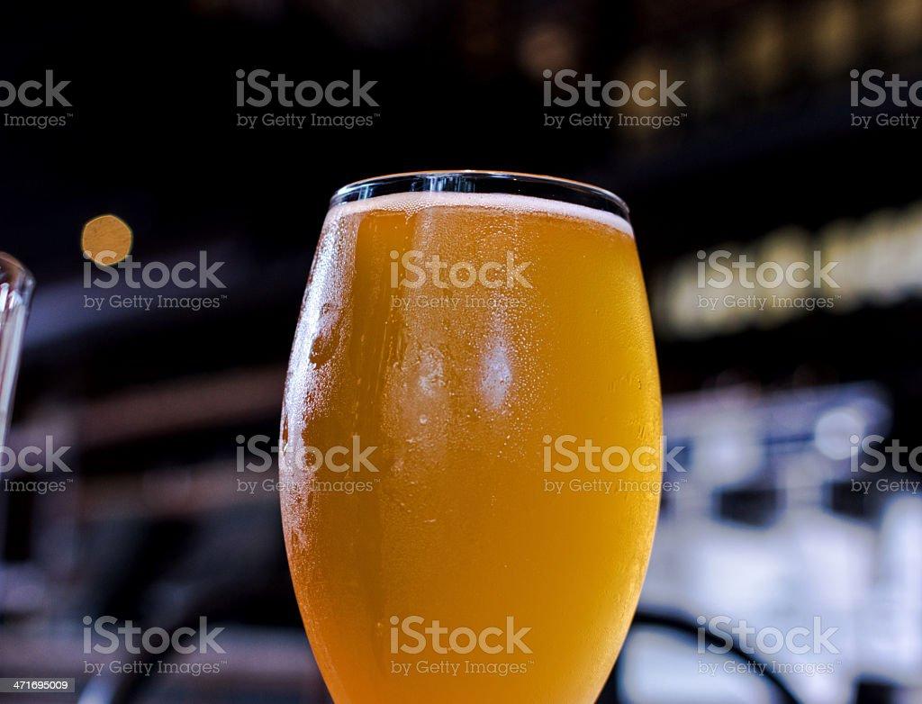 Draft Wheat Beer royalty-free stock photo