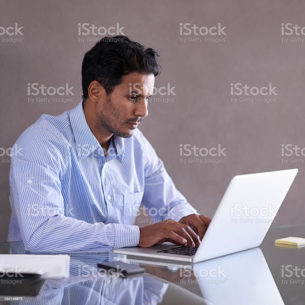 Drafting a report stock photo