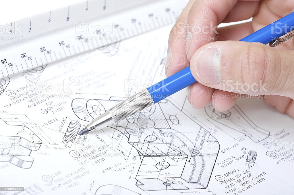 drafting blue print royalty-free stock photo