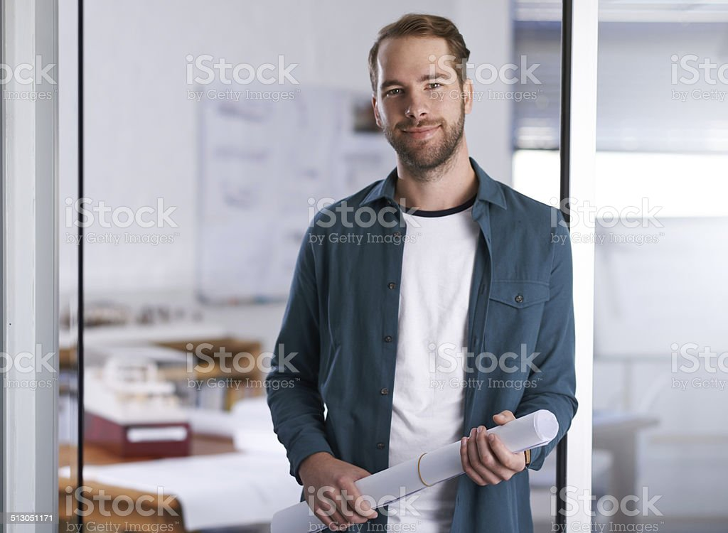 Drafting isn't just my job, it's my passion stock photo
