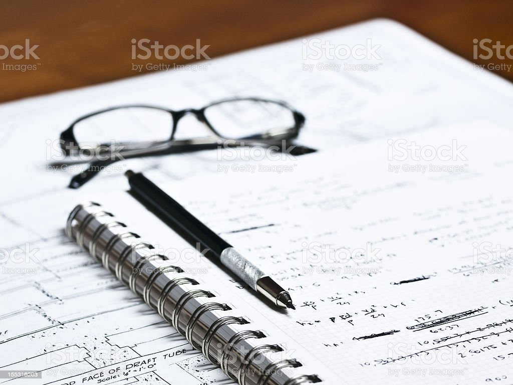 Drafting Plans 9 royalty-free stock photo