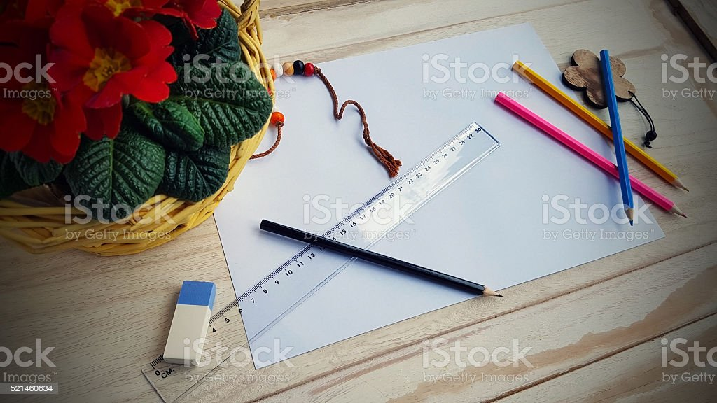 Drafting Still Life stock photo