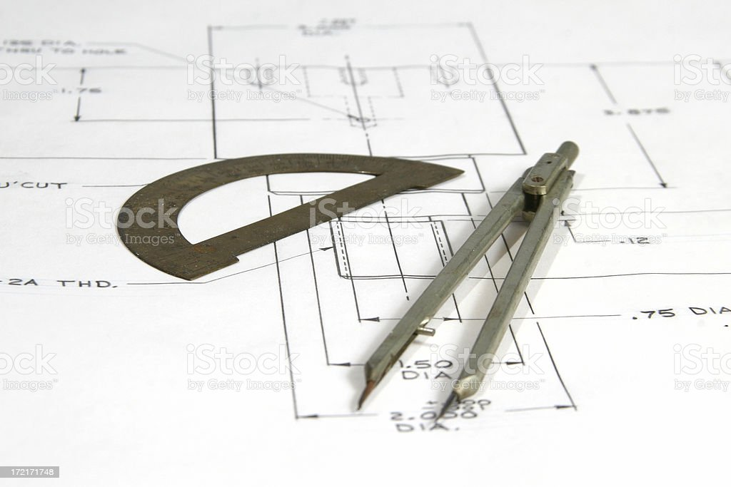 drafting tools royalty-free stock photo
