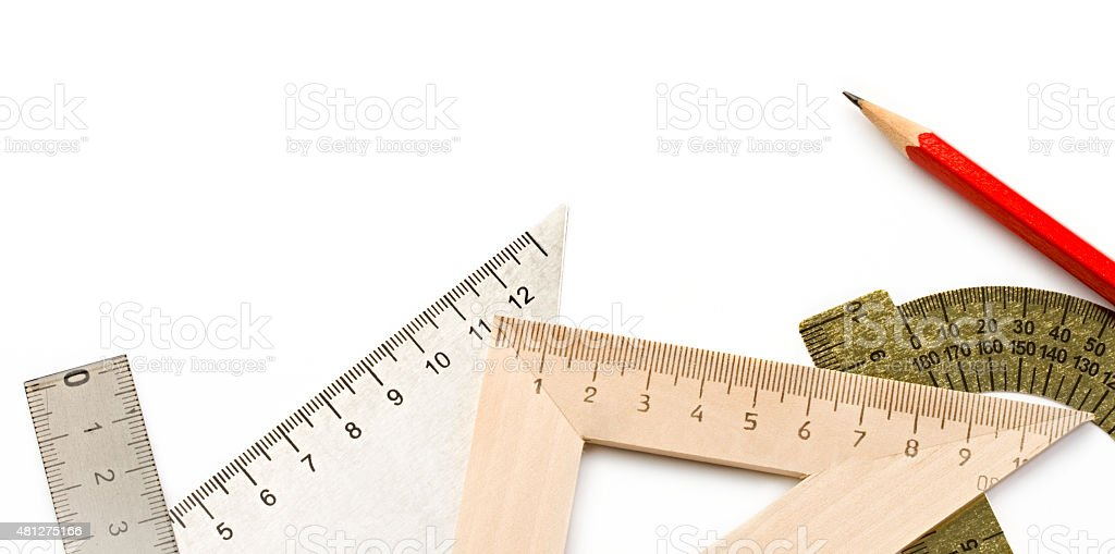 Drafting tools stock photo