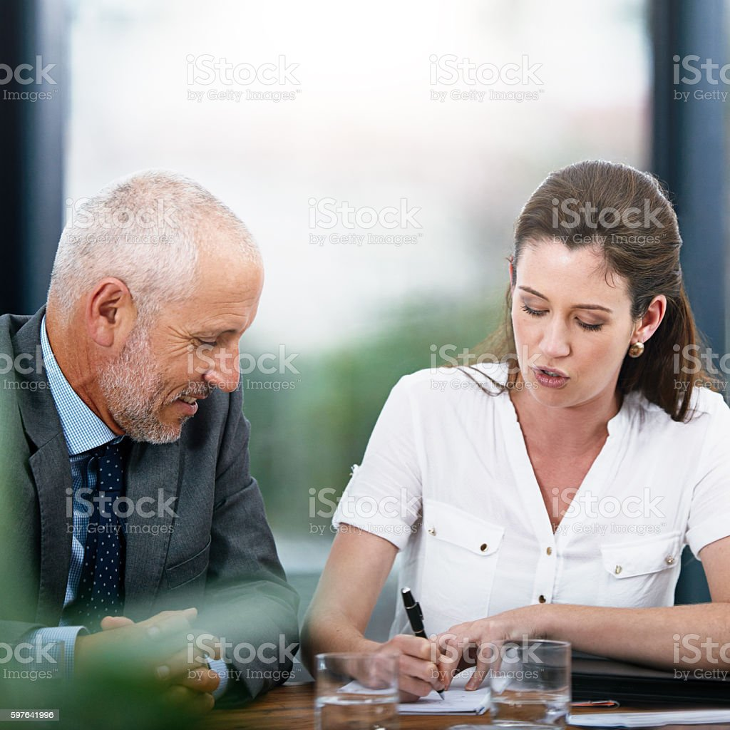 Drafting up a plan stock photo