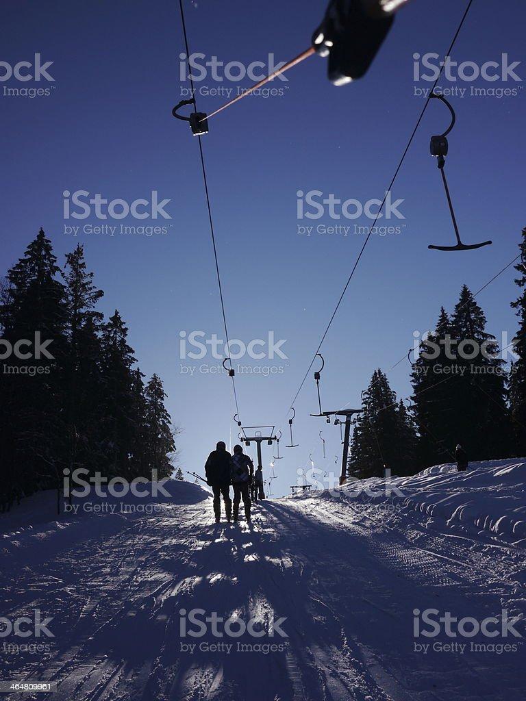 drag lift stock photo