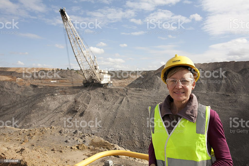 Drag Line in the Coal Mining Industry royalty-free stock photo