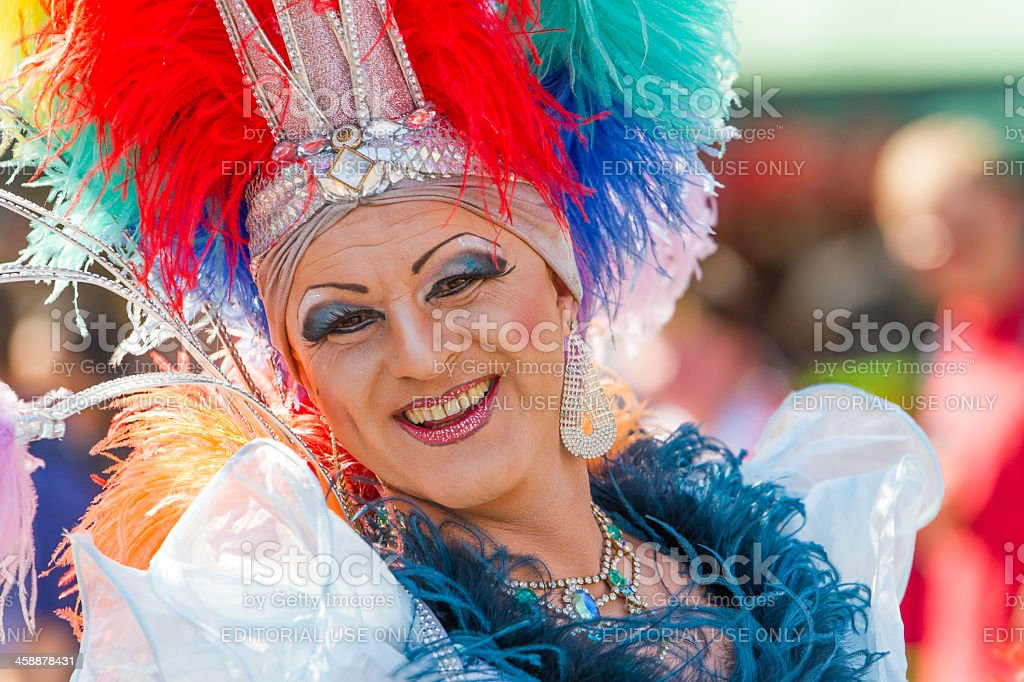 Drag Queen at Christopher Street Day stock photo
