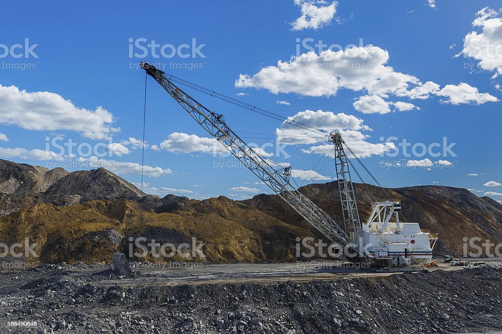 dragline at Coal Mine royalty-free stock photo