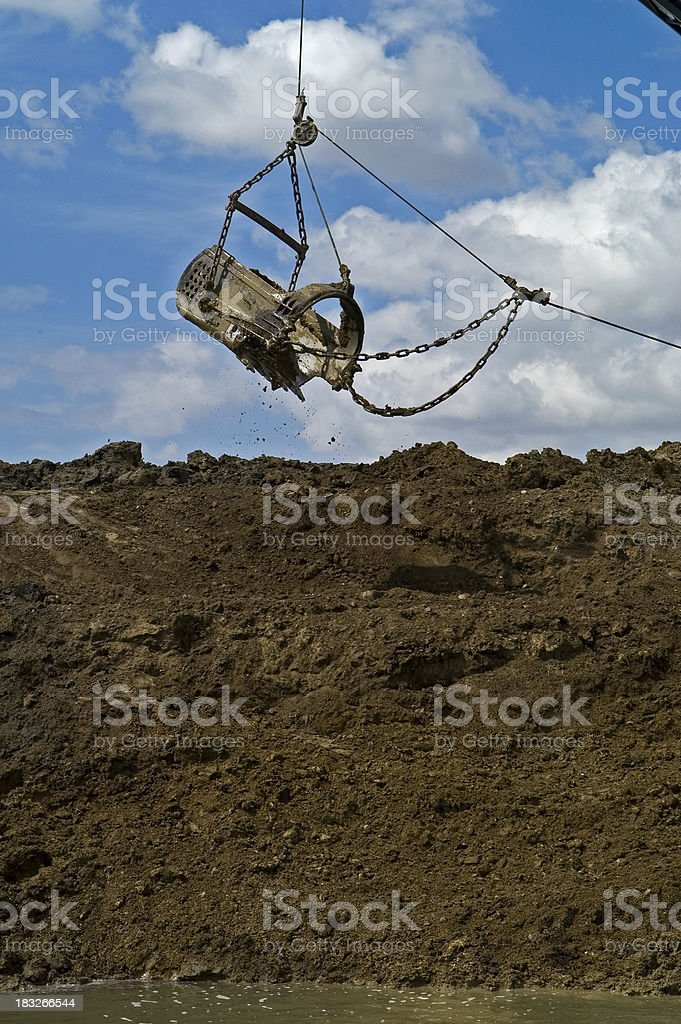 Dragline Bucket going for another mouthful royalty-free stock photo