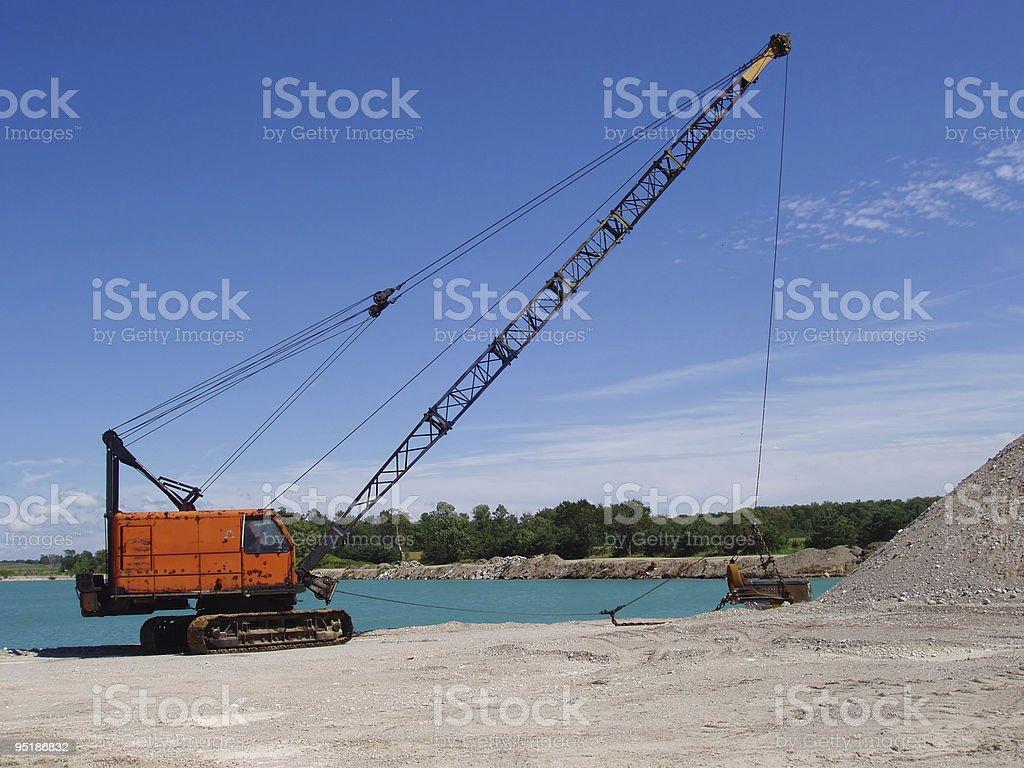 dragline stock photo