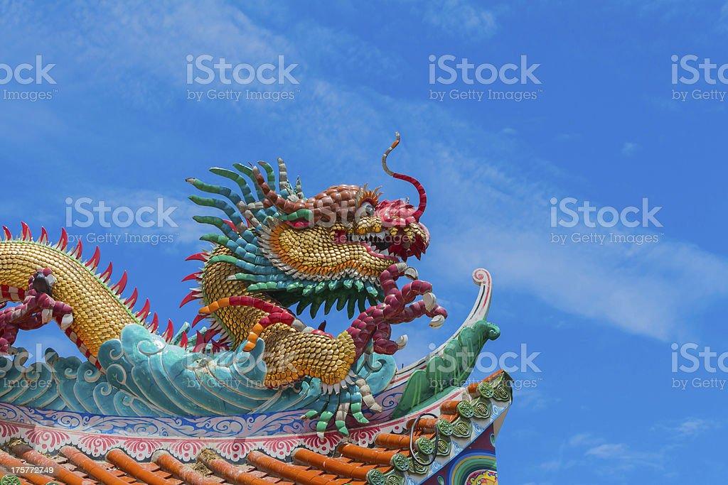 Dragon and bluesky stock photo