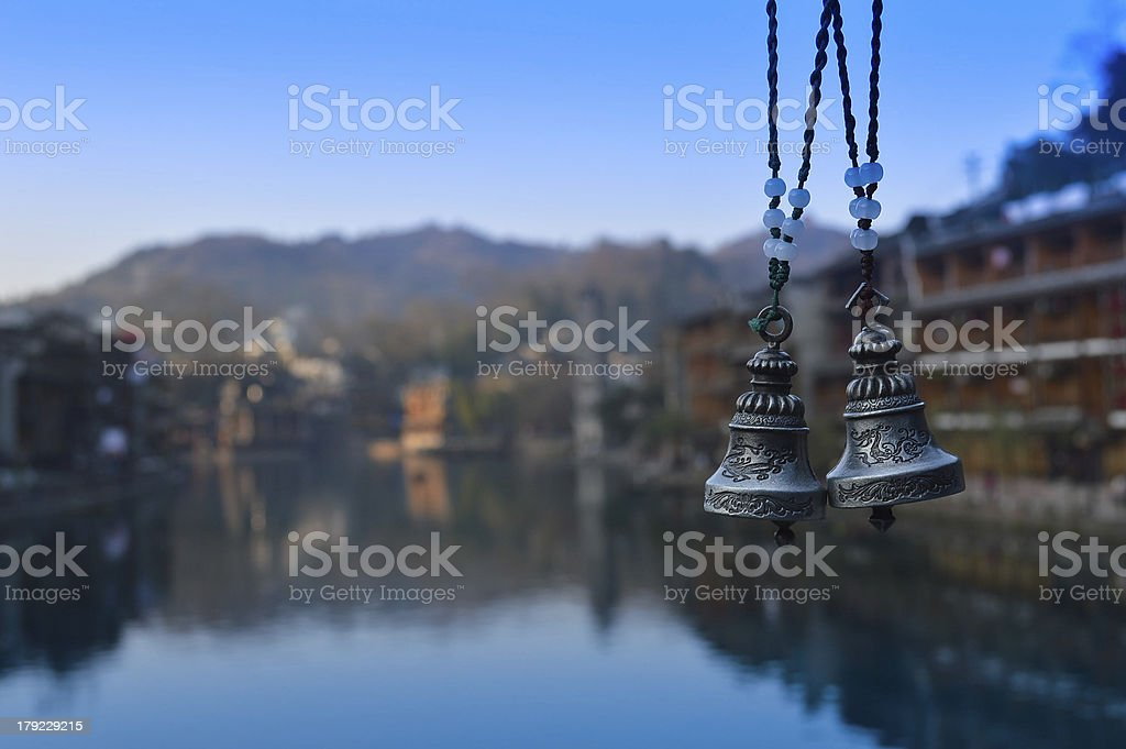 Dragon and phoenix bell royalty-free stock photo