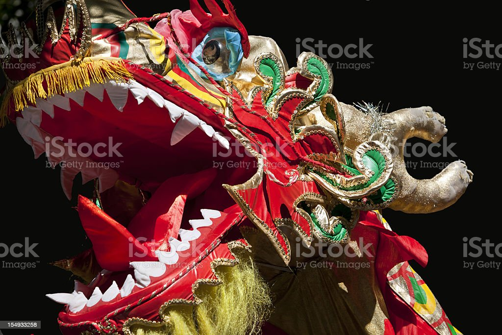 Dragon at chinese new year celebration royalty-free stock photo