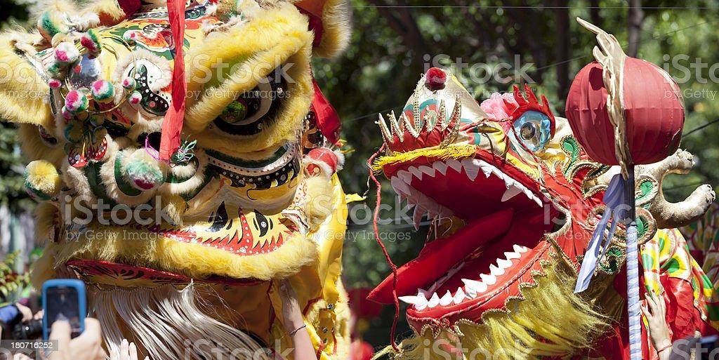 Dragon at chinese new year celebration royalty-free stock photo
