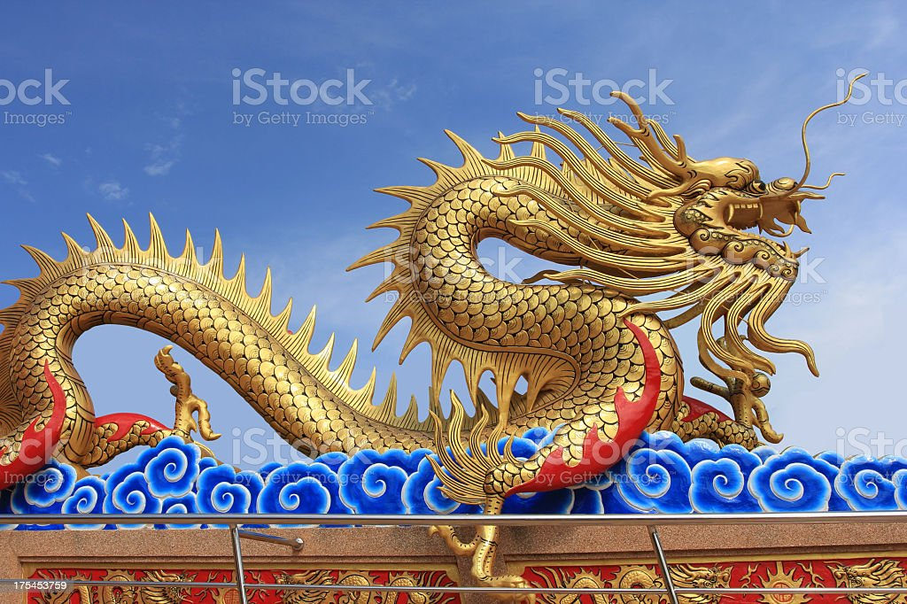Dragon at Chinese Temple stock photo
