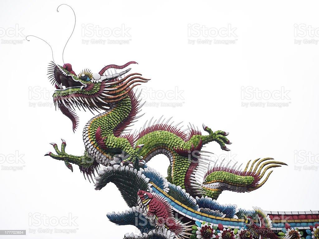Dragon At Mengjia Longshan Temple stock photo