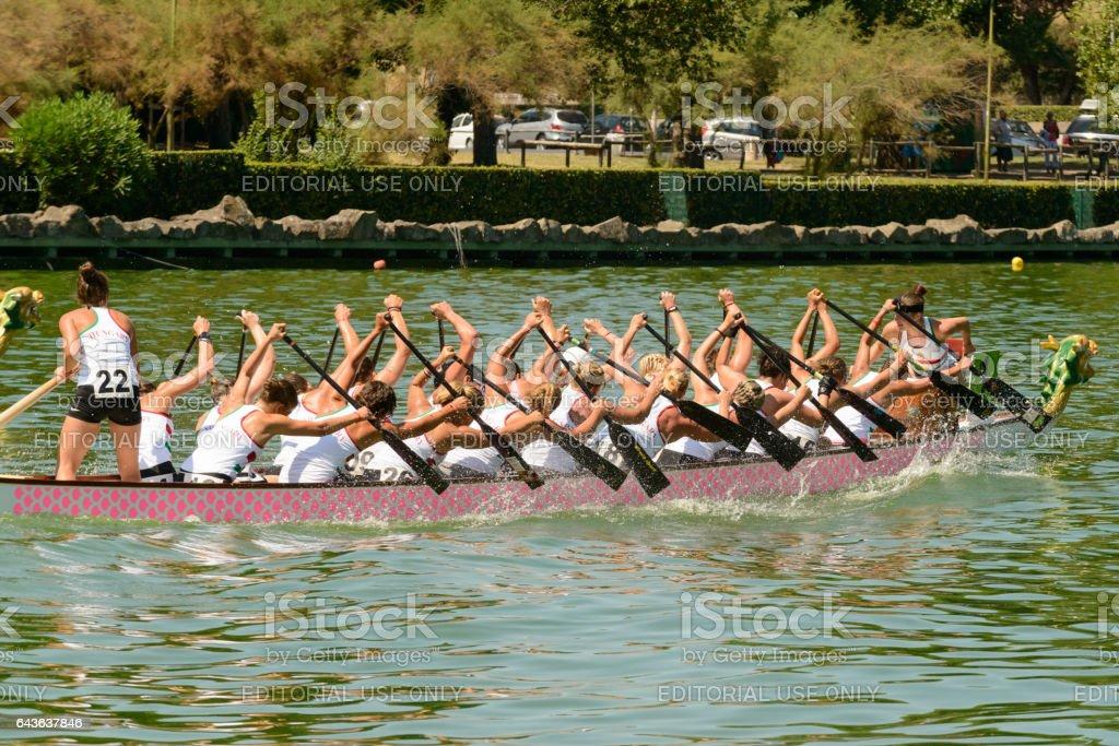 Dragon Boat Championship stock photo