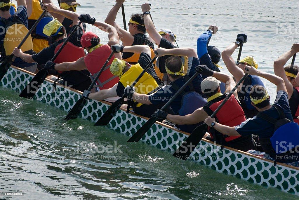 Dragon Boat Crew royalty-free stock photo