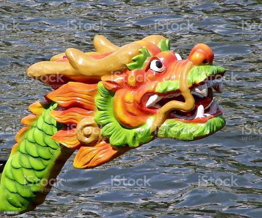 Dragon boat head royalty-free stock photo