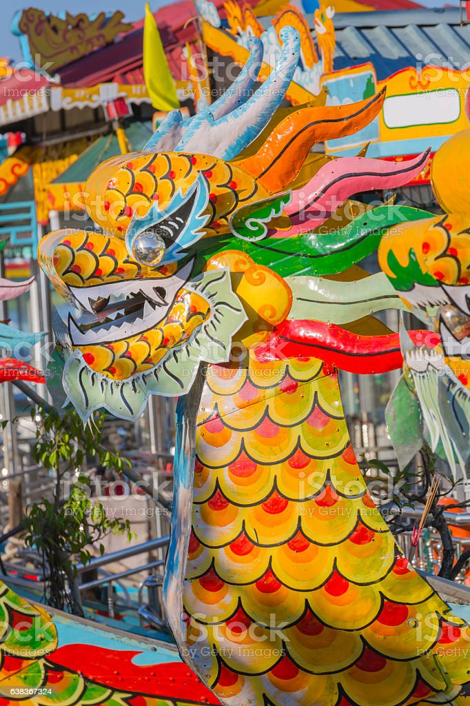 Dragon boat, Hue Vietnam stock photo