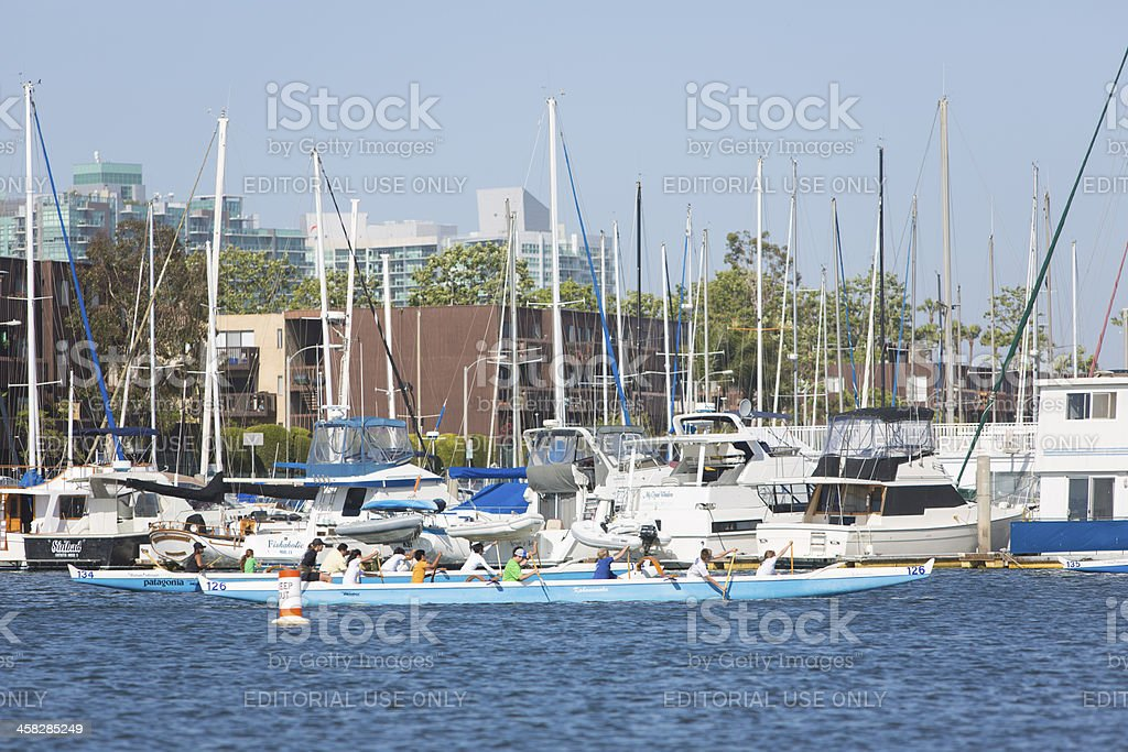 Dragon Boat race training royalty-free stock photo