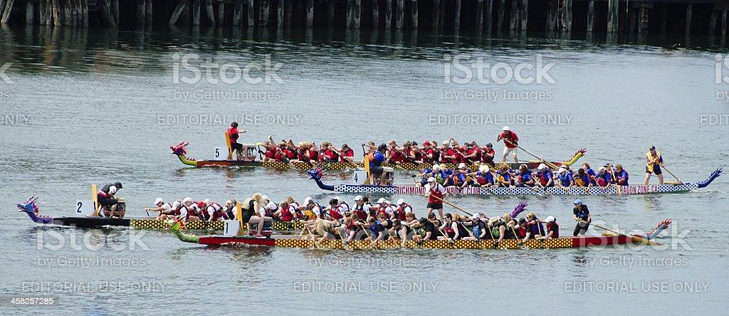 Dragon boat races royalty-free stock photo