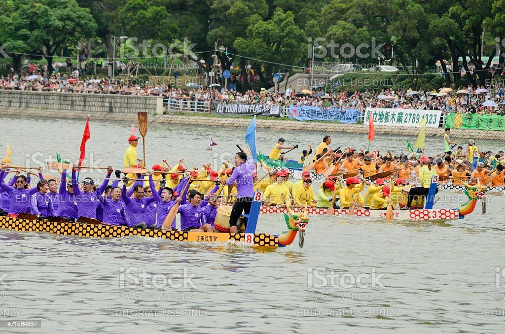 Dragon Boat Racing in Hong Kong 2013 stock photo