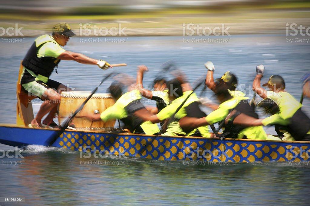 Dragon Boat: Teamwork stock photo