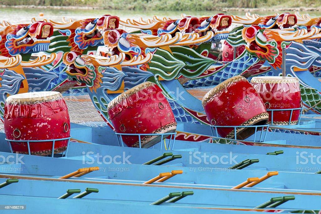 Dragon boats 4 stock photo