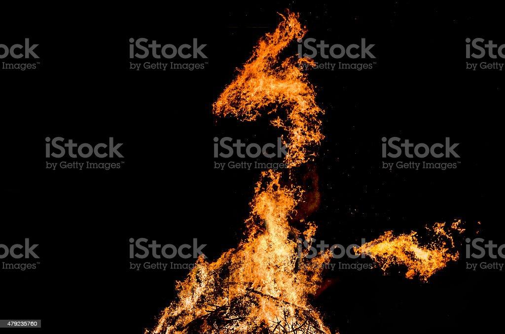 Dragon bonfire stock photo