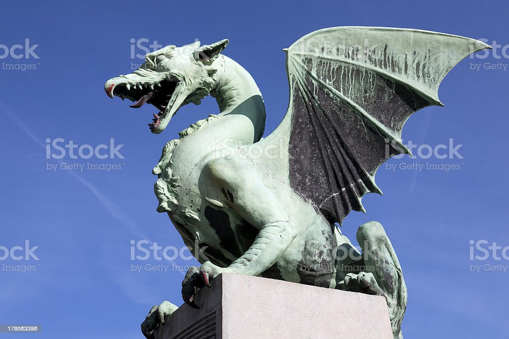 Dragon Bridge in Ljubljana royalty-free stock photo