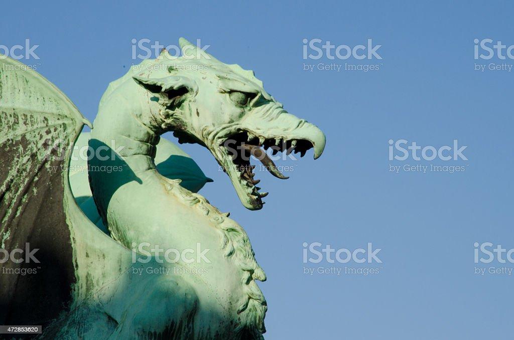 Dragon bridge in Ljubljana Slovenia stock photo
