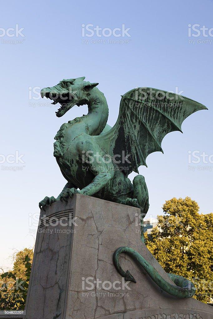 Dragon bridge in the Ljubljana. stock photo