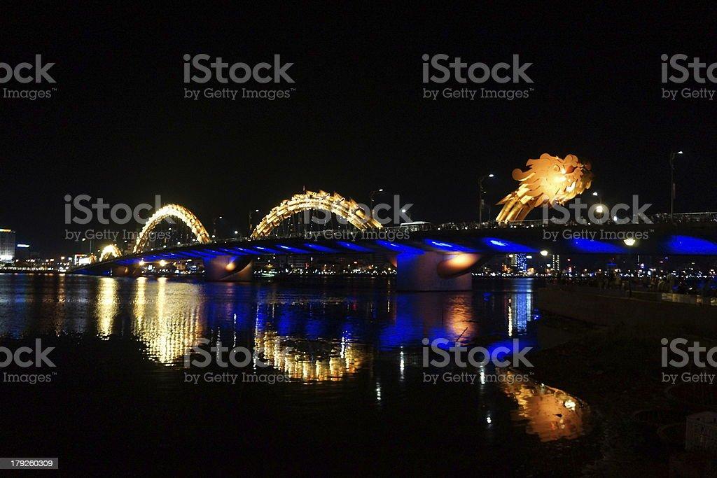 Dragon Bridge in Vietnam stock photo