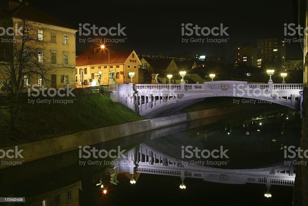 Dragon Bridge, Ljubljana royalty-free stock photo