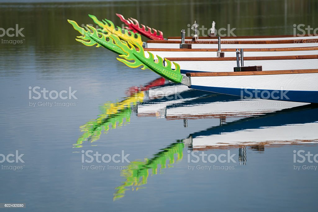 Dragon canoe Festival took place in antalya manavgat stock photo